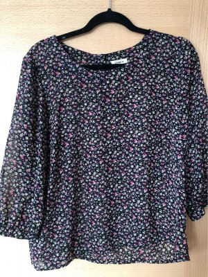 Only Zijden blouse zwart bruin