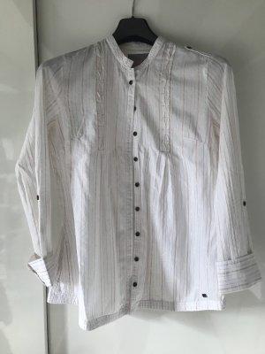 Superdry Blusa larga blanco puro-color oro