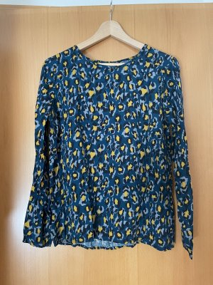 Sublevel Long Sleeve Blouse blue-yellow