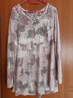 Lange blouse wit-mauve