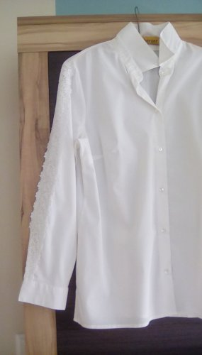 bpc bonprix collection Long Sleeve Blouse white cotton