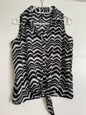 Madonna Blusa de manga corta blanco-negro