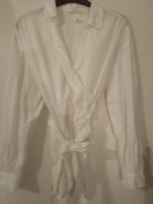 Blusa cruzada blanco puro