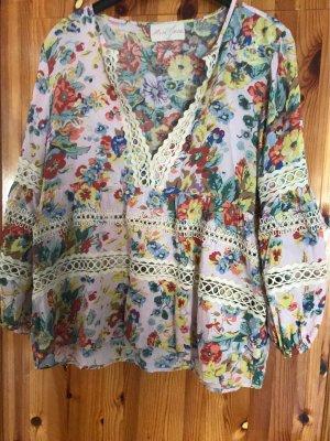 Miss June Blusa kimono multicolore