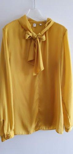 Seidensticker Blusa collo a cravatta oro-giallo