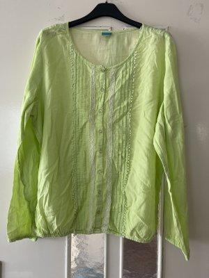 Blusa tipo body verde pradera
