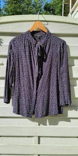 1.2.3 Paris Tie-neck Blouse dark violet-white