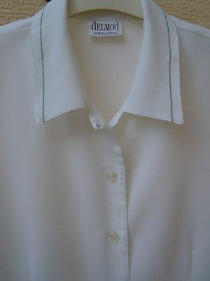Bluse  1/2 Arm in weiß von Delmod Gr. 40/42