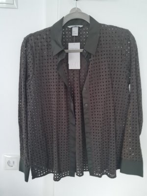 H&M Long Sleeve Blouse forest green-khaki
