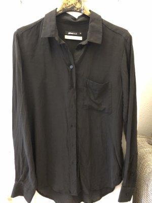 Gina Tricot Blusa de seda negro