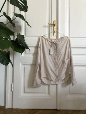 COS Blouse en soie beige clair-rosé