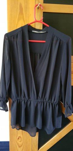 Angela Davis Transparentna bluzka ciemnoniebieski