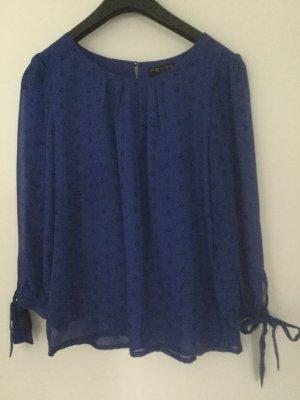 Fever london Bluzka z długim rękawem niebieski-czarny