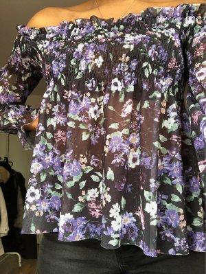 Gina Tricot Blouse à manches longues violet-brun pourpre