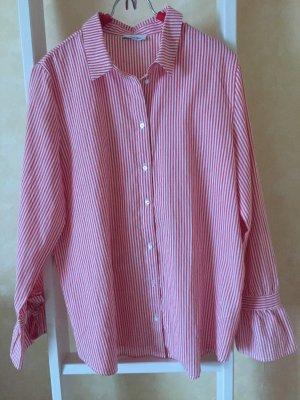 Aniston Camicetta a maniche lunghe bianco-rosso mattone Cotone