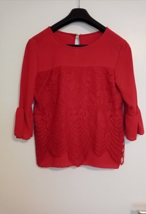 Lace Blouse red