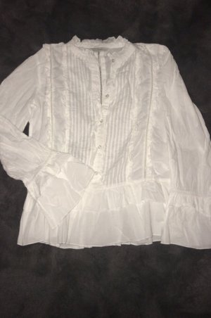 Only Ruche blouse wit
