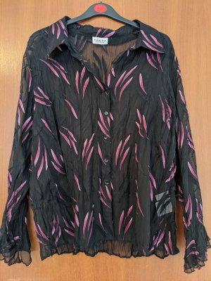 Canda Blouse met lange mouwen zwart-roze