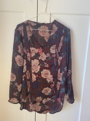 Zara Basic Blusa brillante multicolor