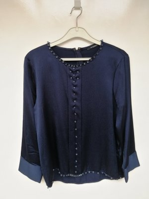 Bruuns bazaar Blouse Top dark blue