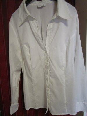 Cols de blouses blanc lycra