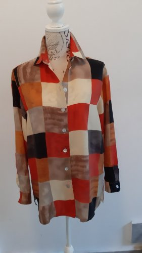 Alba Moda Zijden blouse veelkleurig