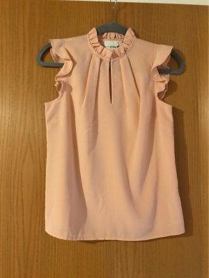 Asos Petite Short Sleeved Blouse rose-gold-coloured-pink