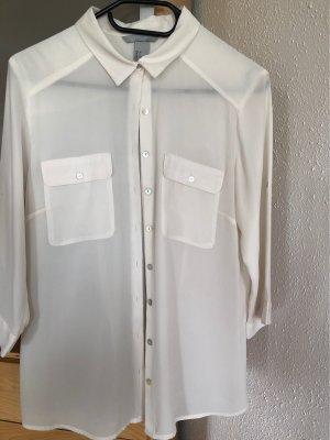 H&M Blusa in seta bianco sporco