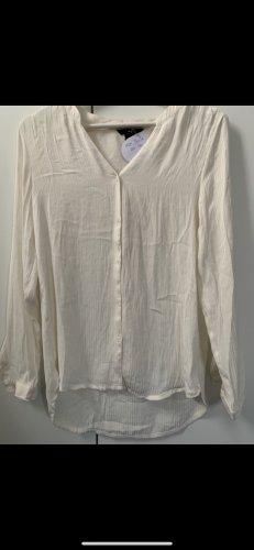 H&M Blusa de manga larga crema