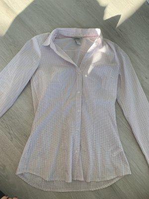 H&M Blouse met opstaande kraag wit-lichtroze