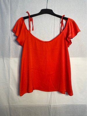 Pimkie Połyskująca bluzka pomarańczowy neonowy