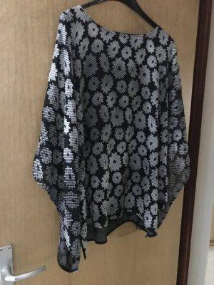 Ulla Popken Blusa kimono bianco-nero