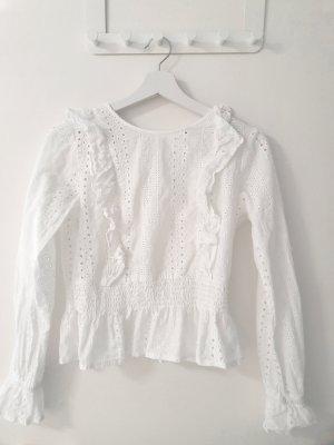 Tally Weijl Koronkowa bluzka biały