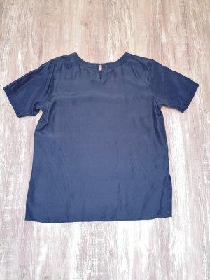 Lindex Silk Blouse dark blue