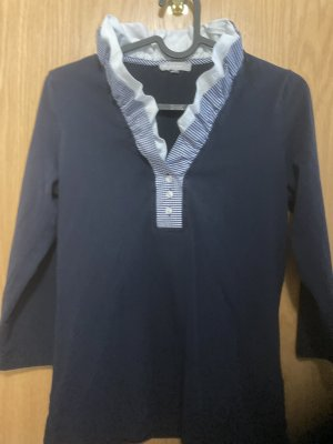 Marco Pecci Cols de blouses bleu foncé-gris clair