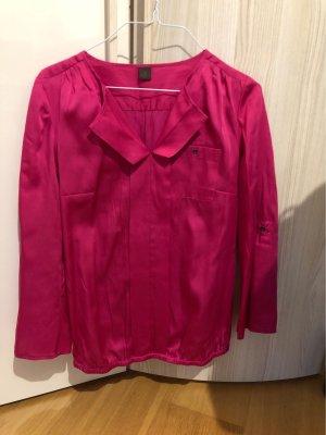 s.Oliver Selection Glanzende blouse framboosrood