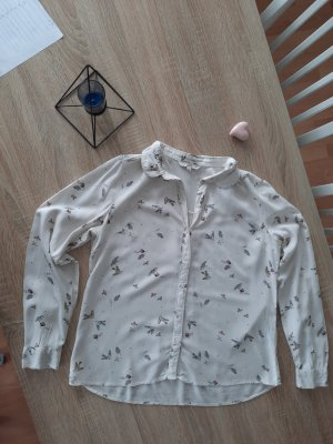 C&A Clockhouse Hemdblouse wit-taupe Viscose