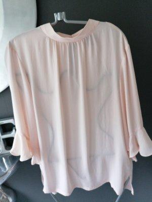 H&M Studio Blusa con collo alla coreana rosa pallido