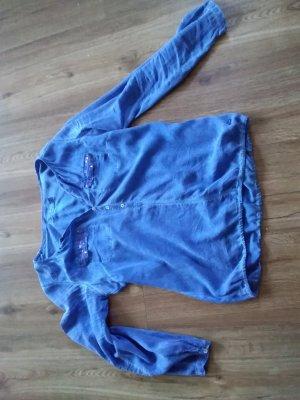 Tom Tailor Camicetta a maniche lunghe blu neon Cotone
