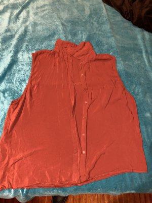Pull & Bear Blusa senza maniche arancione