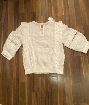 H&M Ruche blouse wolwit-wit