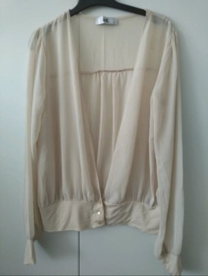 adl Long Sleeve Blouse cream polyester