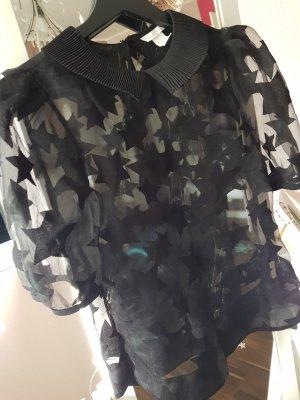 Woman for H&M Transparent Blouse black