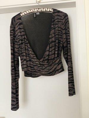 H&M Glanzende blouse grijs