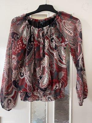Vestino Body koszulowe czerwony-kremowy