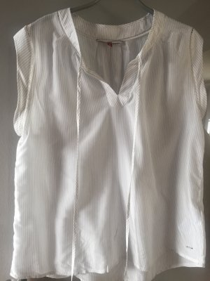 Tommy Hilfiger Sleeveless Blouse white-pale blue