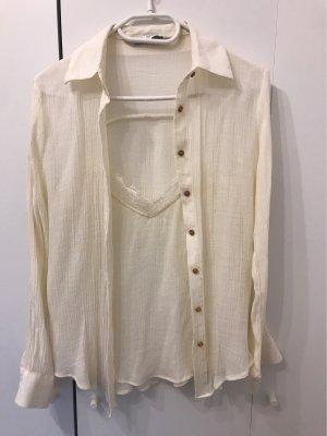 Zara Woman Cols de blouses crème
