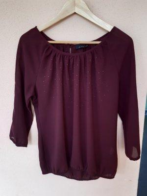 Sa.Hara Slip-over Blouse blackberry-red-brown violet polyester