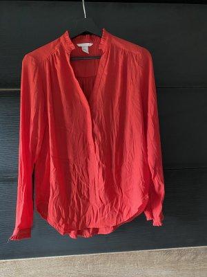 H&M Połyskująca bluzka czerwony