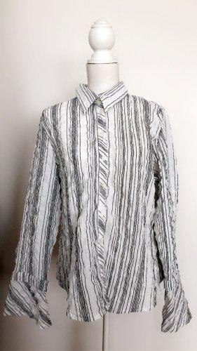 True Vintage Koszulowa bluzka biały-czarny